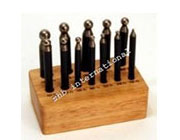 Steel Doming Punches on  Printed Wooden Stand