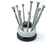 Screw Drivers Set Of 9 Swiss Revolving Stand