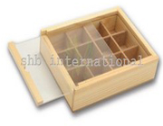 12 Compartment Wood Box With Acrylic Led
