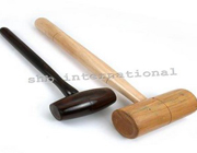 Natural Wooden Hammer With Wooden Handle