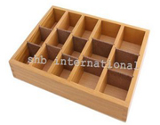 Wooden Box With 15 Compartments