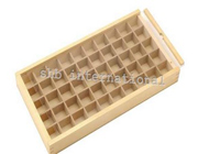 Wooden Box With 50 Compartments Clear Slide Led